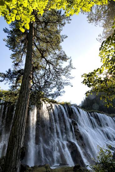 China 10MKm2 Collection - Waterfalls in the Jiuzhaigou National Park-Philippe Hugonnard-Photographic Print