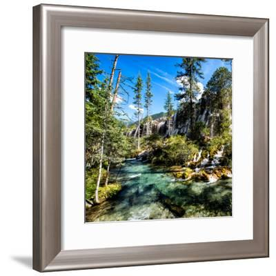 China 10MKm2 Collection - Waterfalls in the Jiuzhaigou National Park-Philippe Hugonnard-Framed Photographic Print