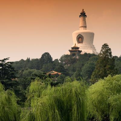 China 10MKm2 Collection - White Pagoda at Sunset - Beihai Park - Beijing-Philippe Hugonnard-Photographic Print