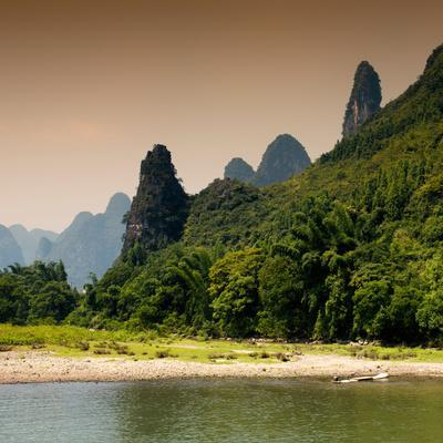 China 10MKm2 Collection - Yangshuo Li River-Philippe Hugonnard-Photographic Print