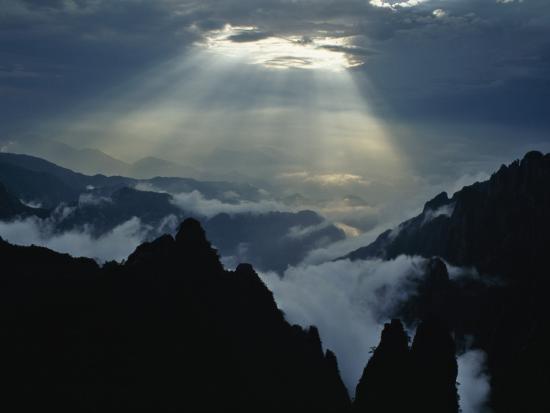 China, Anhui Province, Mt-Keren Su-Photographic Print
