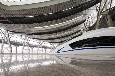 China, Beijing, Crh High Speed Railway Locomotive-Paul Souders-Photographic Print
