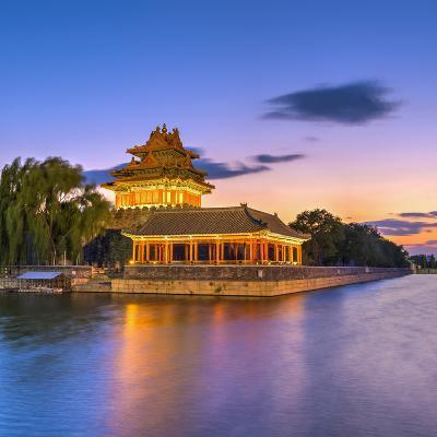 China, Beijing, Forbidden City, Palace Moat-Alan Copson-Photographic Print