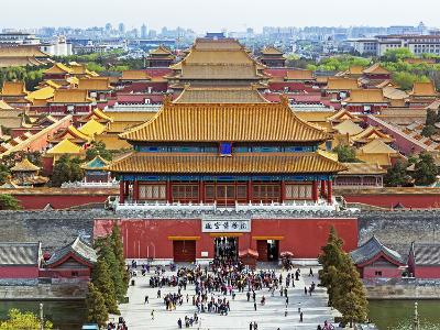 China, Beijing, the Forbidden City in Beijing Looking South-Gavin Hellier-Photographic Print