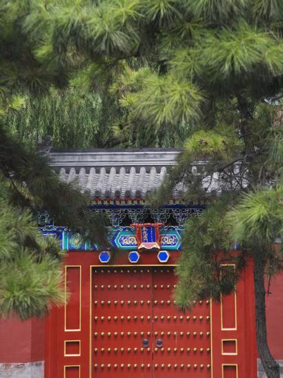 China, Beijing, Traditional Gate in Beihai Park-Keren Su-Photographic Print