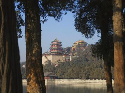 China, Beijing, Traditional Pavilion in the Summer Palace-Keren Su-Photographic Print