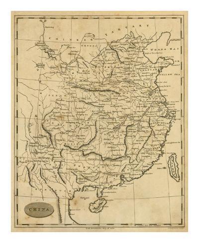 China, c.1812-Aaron Arrowsmith-Art Print