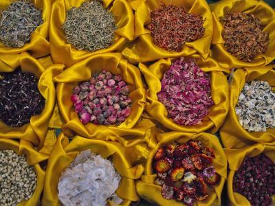 China, Chinese Herbs, Dried Flowers and Plants-Keren Su-Photographic Print
