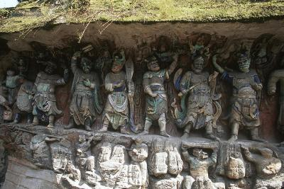China, Chongqing, Dazu County, Dazu Rock Carvings with Stone Sculptures at Mount Baoding--Giclee Print