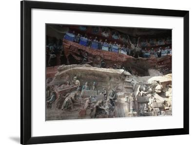 China, Chongqing, Dazu County, Dazu Rock Carvings with Stone Sculptures at Mount Baoding--Framed Giclee Print