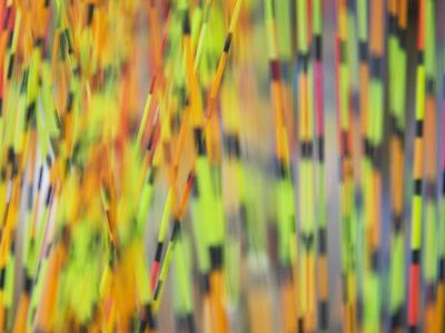 China, Colorful Floating Marks of Fish Bait-Keren Su-Photographic Print