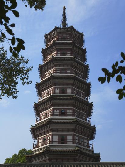 China, Guangdong Province, Guangzhou, Flower Pagoda in Liurong Temple-Keren Su-Photographic Print