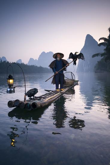 China, Guanxi, Yangshuo. Old Chinese Fisherman-Matteo Colombo-Photographic Print