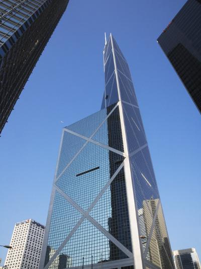 China, Hong Kong, Buildings in Downtown Dominated by Bank of America-Keren Su-Photographic Print
