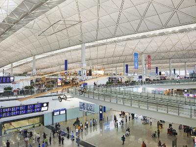 China, Hong Kong, Interior of Hong Kong International Airport-Steve Vidler-Photographic Print