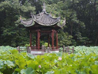 China, Pavilion and Lotus Pond-Keren Su-Photographic Print