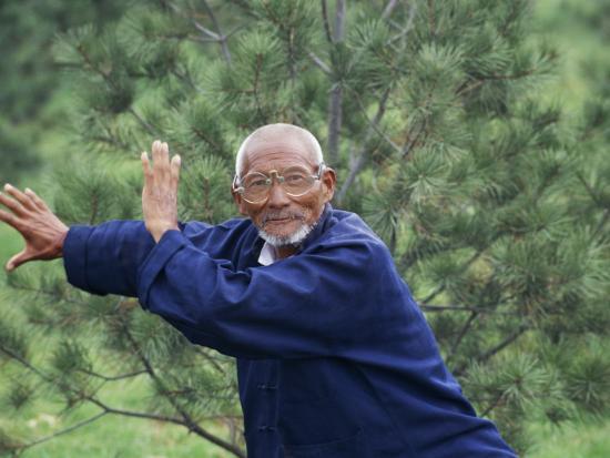 China, Shaanxi Province, Xian, Elderly Man Doing Taichi-Keren Su-Photographic Print