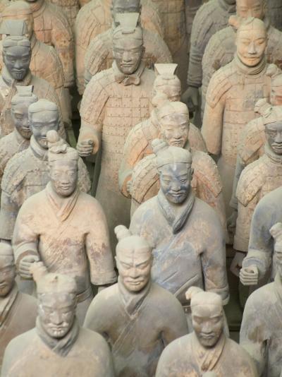 China, Shaanxi Province, Xian, Terra Cotta Warriors in Emperor Qinshihuangdi's Tomb-Keren Su-Photographic Print