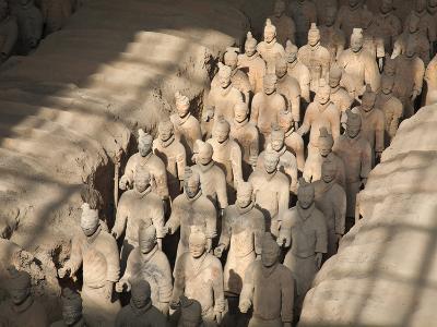 China, Shaanxi, Xi'An, the Terracotta Army Museum, Terracotta Warriors-Jane Sweeney-Photographic Print