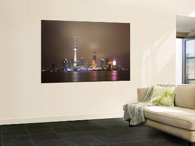 China, Shanghai, Pudong Skyline Across Huangpu River-Gavin Hellier-Wall Mural