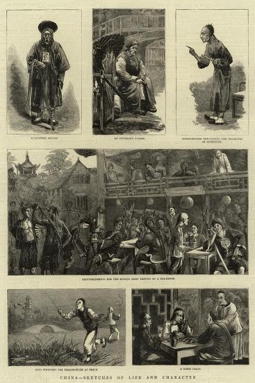 China, Sketches of Life and Character--Giclee Print