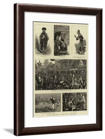 China, Sketches of Life and Character--Framed Giclee Print