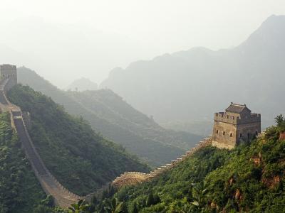 China, Tianjin, Taipinzhai; a Section of China's Great Wall from Taipinzhai to Huangyaguan-Amar Grover-Photographic Print