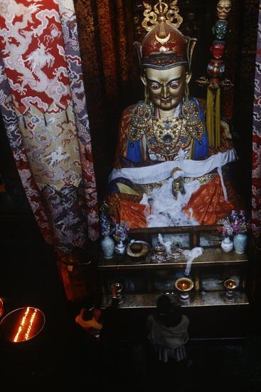 China, Tibet, Lhasa, Statue of Padmasambhava in Jokhang Temple--Giclee Print