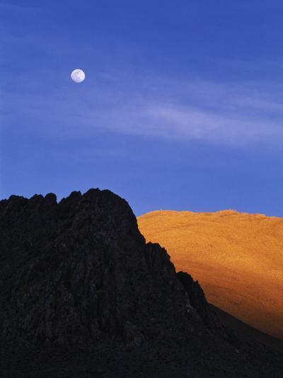 China, Tibet, Moon over the Tibetan Plateau-Keren Su-Photographic Print