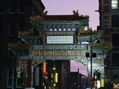 China Town, Manchester, England, United Kingdom-Charles Bowman-Photographic Print