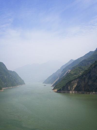 China, Yangtze River, Three Gorges, Landscape of Xiling Gorge-Keren Su-Photographic Print