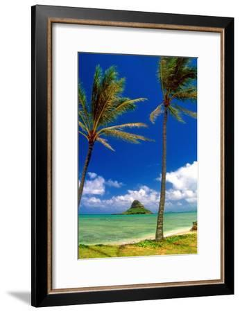 Chinamens Hat in Kaneohe Bay, Hawaii-George Oze-Framed Photographic Print