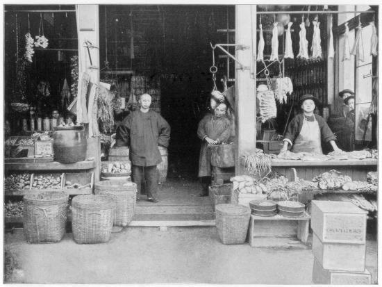 Chinatown, San Francisco, Late 19th Century-John L Stoddard-Giclee Print