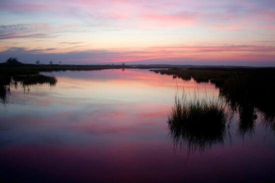 Chincoteague Bay Sunset, Taken from Assateague Island, Maryland-Vickie Lewis-Photographic Print