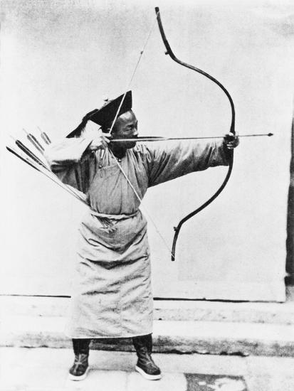 Chinese Archer, circa 1870-John Thomson-Giclee Print