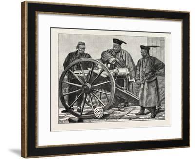 Chinese Artillerymen--Framed Giclee Print