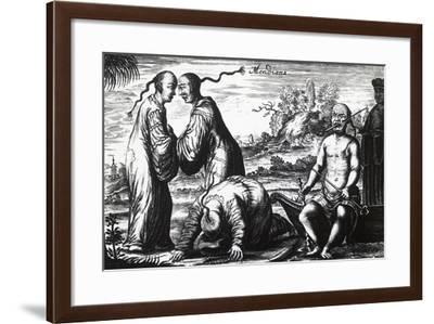 Chinese Beggars, from Embassy from East-India Company of United Provinces-Jan Nieuhoff-Framed Giclee Print