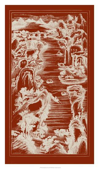 Chinese Bird's-eye View in Red I-Vision Studio-Giclee Print