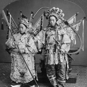 Chinese Bride and Bridegroom, Canton, China, Late 19th or Early 20th Century