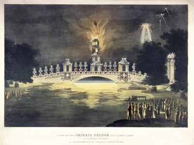 Chinese Bridge in St James's Park, in Celebration of the Glorious Peace of 1814-Frederick Calvert-Giclee Print