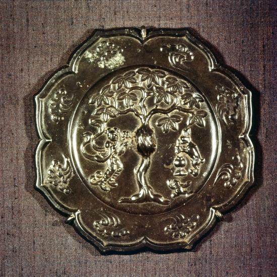 Chinese Bronze Mirror, T'ang Dynasty, 618-906-Unknown-Giclee Print