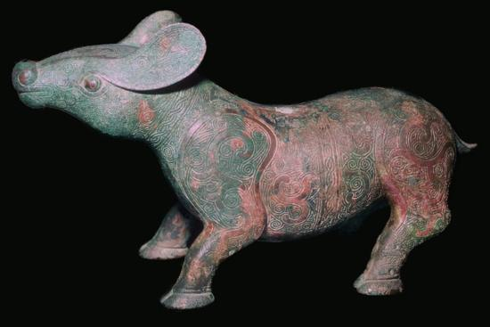 Chinese Bronze Tapir-like animal. Artist: Unknown-Unknown-Giclee Print