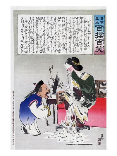 Chinese Cartoon, C1895-Kiyochika Kobayashi-Giclee Print