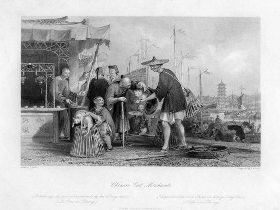 Chinese Cat Merchants, 19th Century-TA Prior-Giclee Print
