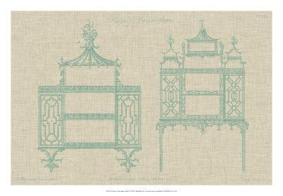 Chinese Chippendale Cabinet II--Giclee Print