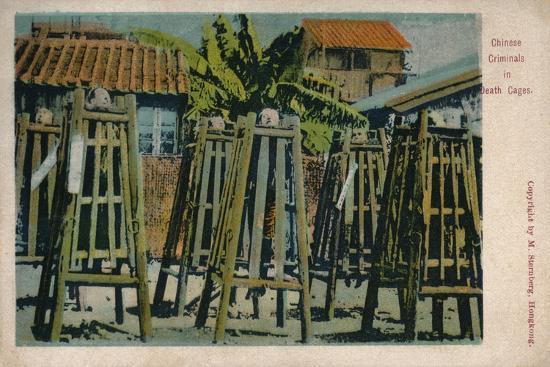 'Chinese Criminals in Death Cages', c1900-Unknown-Giclee Print