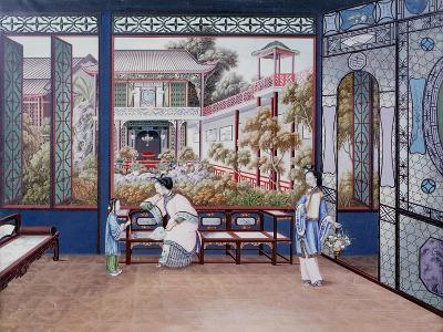 Chinese Domestic Scene, C1820--Giclee Print