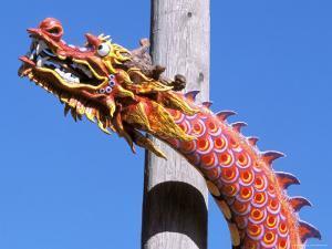 Chinese Dragon in Chinatown, Seattle, Washington, USA