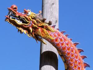 Chinese Dragon in Chinatown, Seattle, Washington, USA