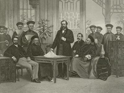 Chinese Embassy to Foreign Powers, 1868-Alonzo Chappel-Giclee Print